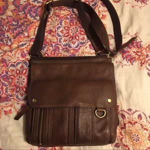 Fossil Vintage Crossbody - 11x11 brown leather